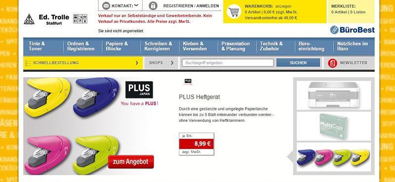 Bürobedarf Edtrolle In Staßfurt Im Salzlandkreis Online Shop